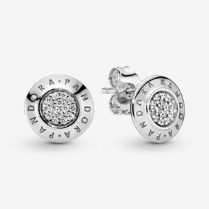 🥂Pandora Sparkling Logo Stud Earrings